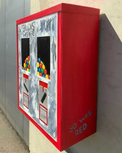Toninho Dingl Kaugummi Automat Brooks was here and so was Red